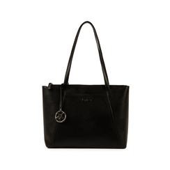 Maxi-bag nera in eco-pelle, Primadonna, 155768941EPNEROUNI, 001 preview