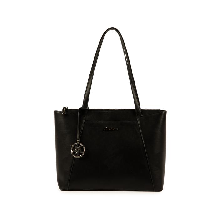 Maxi-bag nera in eco-pelle, Primadonna, 155768941EPNEROUNI