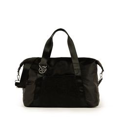 Maxi bag nera in tessuto tecnico, Borse, 152392470TSNEROUNI, 001a