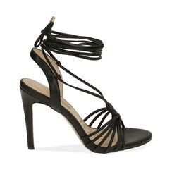 Sandales noires, talon de 10 cm, Primadonna, 172174221EPNERO036, 001a