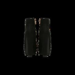 Tronchetti neri scamosciati con plateau, tacco 13,5 cm, Scarpe, 122138410MFNERO, 003 preview