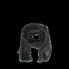Pashmina nera in tessuto , Abbigliamento, 14B404024TSNERO3XL, 002a