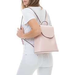 Zainetto rosa in eco-pelle minimal, Borse, 133783137EPROSAUNI, 002 preview