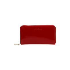 Portafoglio rosso in ecopelle vernice , Saldi, 122200896VEROSSUNI, 001 preview