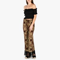 Pantaloni leopard con frange, Vêtements, 150400012TSLEOP3XL, 001a