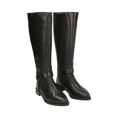 Stivali con borchie neri in pelle, Scarpe, 146208902PENERO036, 002 preview
