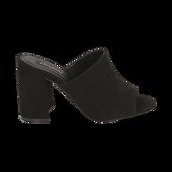 CALZATURA CIABATTE MICROFIBRA NERO, Chaussures, 154998161MFNERO036, 001 preview