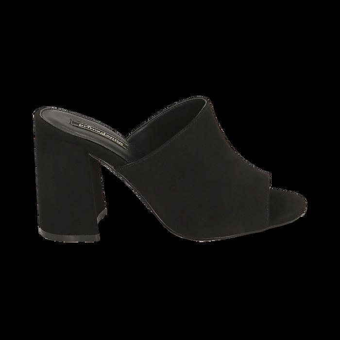CALZATURA CIABATTE MICROFIBRA NERO, Chaussures, 154998161MFNERO036