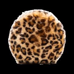 Tracollina leopard in eco-pelliccia, Saldi, 12B412001FULEOPUNI, 002