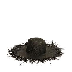 Cappello nero in paglia, Primadonna, 17J901350PGNEROUNI, 002a