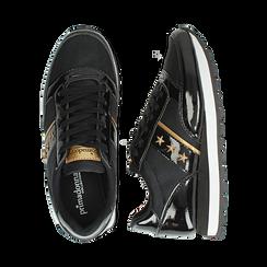 Sneakers nere in vernice, Scarpe, 142619079VENERO, 003 preview