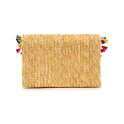 Pochette beige in paglia, Borse, 15J902316PGBEIGUNI, 003 preview