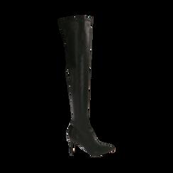 Stivali oveknee neri, tacco 9 cm, Primadonna, 162183365EPNERO036, 001 preview