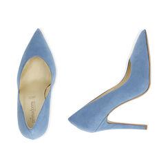 Décolleté azzurre in microfibra, tacco 11 cm , Scarpe, 15A805010MFAZZU036, 003 preview