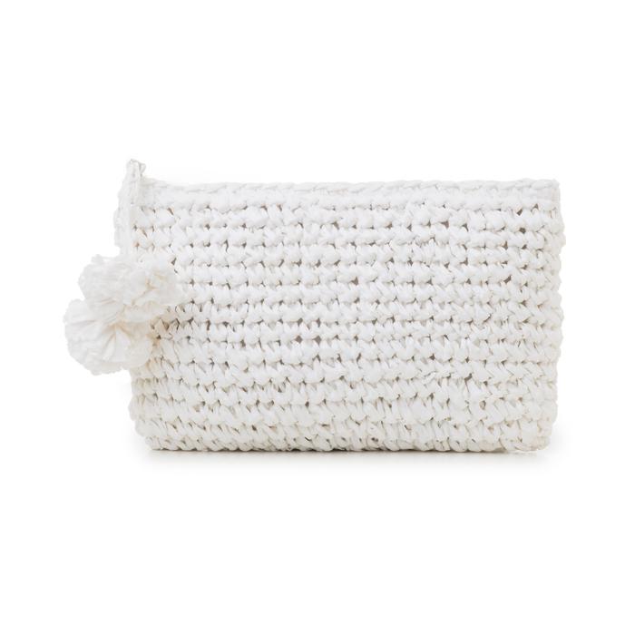 Pochette mare bianca in paglia intrecciata, Primadonna, 134504239PGBIANUNI