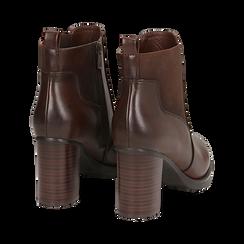 Chelsea boots cuoio in eco-pelle, tacco 8,5 cm , Scarpe, 143066110EPCUOI036, 004 preview