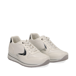 Sneakers bianche in eco-pelle , 139300005EPBIAN, 002a