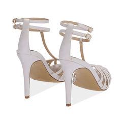 Sandali bianchi, tacco 10 cm , Primadonna, 172174211EPBIAN036, 004 preview