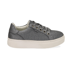 Sneakers argento glitter, suola 4 cm , Scarpe, 142509512GLARGE036, 001 preview