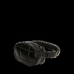 Marsupio nero in tessuto , IDEE REGALO, 165108872TSNEROUNI, 002a