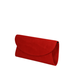 Pochette rossa in microfibra , Primadonna, 165122502MFROSSUNI, 002a