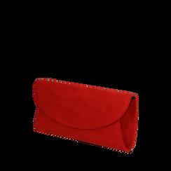 Pochette rojo en microfibra, Bolsos, 165122502MFROSSUNI, 002a