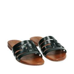 Sandales noir en cuir de vache, Primadonna, 177249150VANERO036, 002a