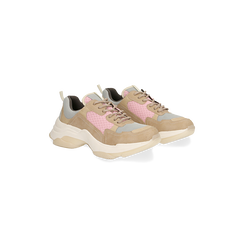 Sneakers beige dad shoes,