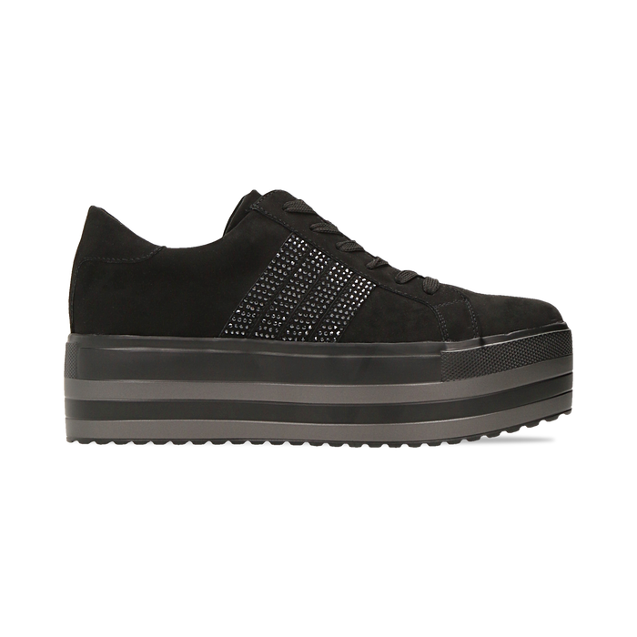 Sneakers nere suola platform multistrato, Primadonna, 122818575MFNERO035