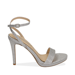 WOMEN SHOES SANDAL GLITTER ARGE, Chaussures, 152127401GLARGE038, 001a