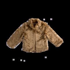 Pelliccia rosa nude corta eco-fur, manica lunga, Abbigliamento, 12B432301FUNUDE, 001 preview