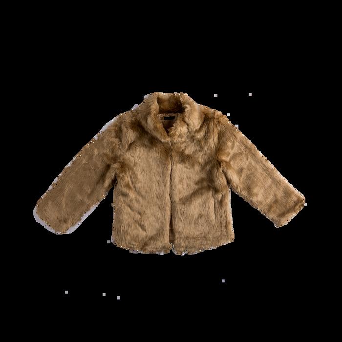 Pelliccia rosa nude corta eco-fur, manica lunga, Abbigliamento, 12B432301FUNUDE