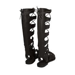 Sandalias de gladiador negras, Primadonna, 174952233EPNERO035, 003 preview