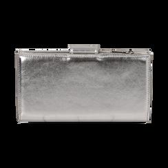Monedero en eco-piel laminada color plateado, Bolsos, 155122158LMARGEUNI, 004 preview