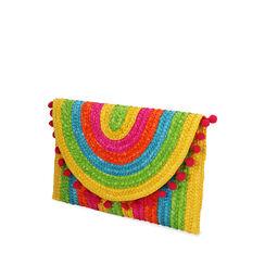 Pochette multicolor in paglia, Primadonna, 17J902029PGMULTUNI, 002a