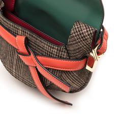 Borsa piccola verde in eco-pelle con dettagli in tweed, Borse, 142406448EPVERDUNI, 004 preview