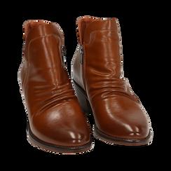 Ankle boots cuoio, tacco 4,50 cm, Primadonna, 150693110EPCUOI036, 002 preview