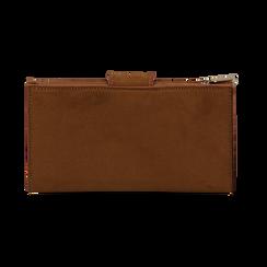Portafogli marrone in microfibra con 25 vani , Borse, 133322158MFMARRUNI, 004 preview