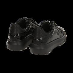 Sneakers noires en vernis, Primadonna, 162602011VENERO035, 004 preview