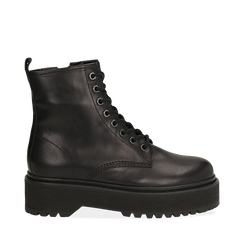 Amphibiens platform noir en cuir, Primadonna, 167728502PENERO040, 001a