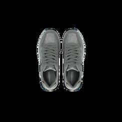 Sneakers grigie dettagli glitter , Scarpe, 121308201LMGRIG, 004 preview