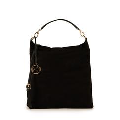 Maxi-bag nera in microfibra , Primadonna, 15D208513MFNEROUNI, 001a