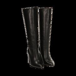 Stivali neri, tacco 9,50 cm , Primadonna, 163026501EPNERO035, 002 preview