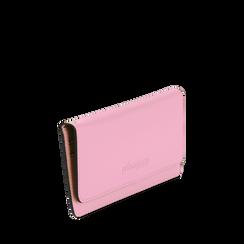 Portafoglio rosa in eco-pelle con laccetto per il polso, Borse, 133723651EPROSAUNI, 002a