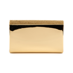 Pochette doré effet miroir avec des strass, Sacs, 155108562SPOROGUNI, 003 preview