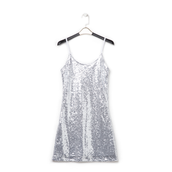 Mini-dress argento in tessuto e paillettes , Primadonna, 13A207801PLARGEL, 001 preview