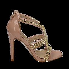 CALZATURA SANDALO EP-VERNICE NUDE, Chaussures, 152100920VENUDE037, 001a