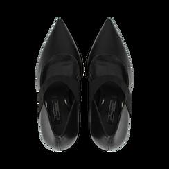 Décolleté nere con cinturino elastico, tacco 9 cm, Primadonna, 128485107EPNERO, 004 preview