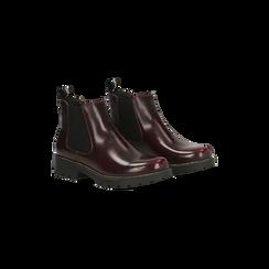 Chelsea Boots bordeaux, punta tonda, Scarpe, 120608573ABBORD035, 002