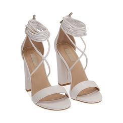 Sandali lace-up bianchi, tacco 10,5 cm , Primadonna, 172760851EPBIAN036, 002 preview